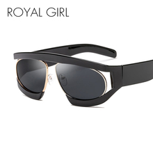 39f616a54d5 ROYAL GIRL Oversized Sunglasses Women 2018 Big Black Frame Clear Lens Female  Goggles