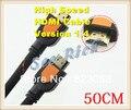 Высокая Скорость 4 К * 2 К HDMI Кабель/Версия 1.4/1080 P/PC & HDTV кабель/Ethernet 3D Ready/Мужчинами Кабель/50 см/Бесплатная доставка