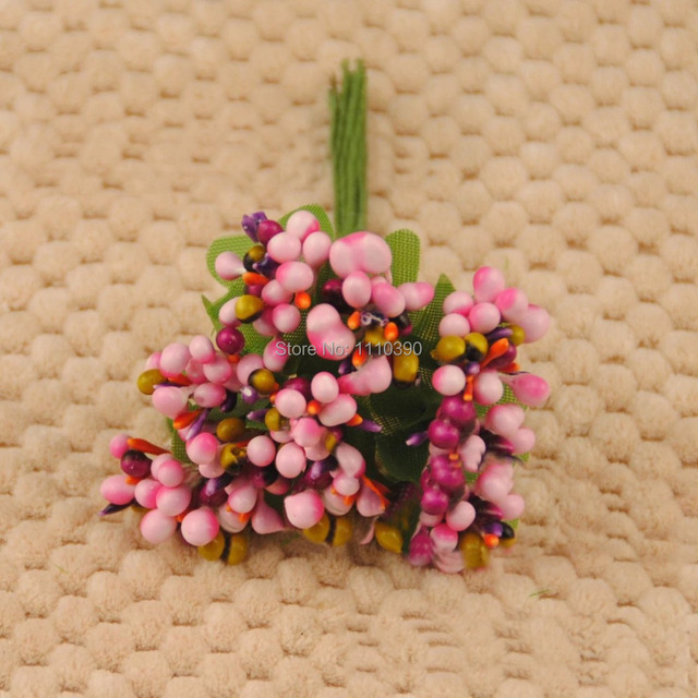 2CM decorative artificial fruit flowers bouquets with leaves,pip ...