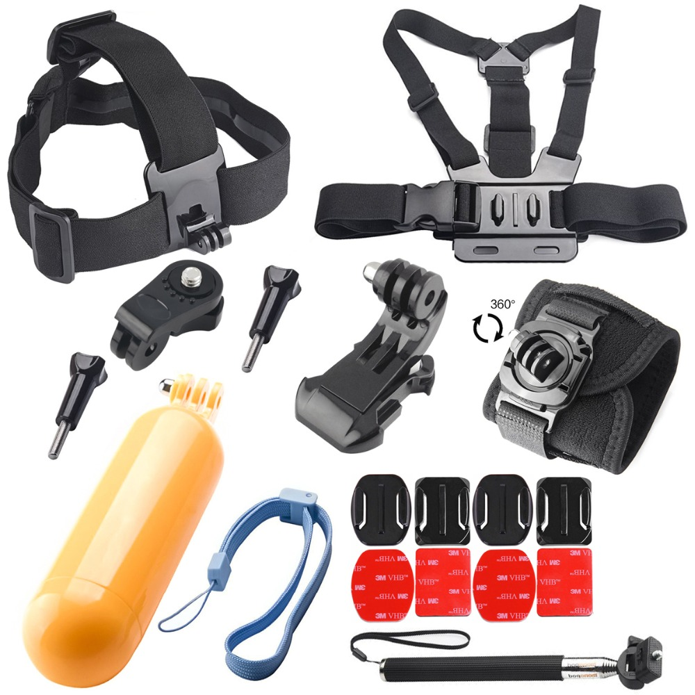 for Accessories Kit Set for Sony Action Cam HDR AS20 AS200V AS30V AS15 AS100V AZ1 mini FDR-X1000V/W 4k for xiaomi yi Action cam head strap accessories kit monopod mount for sony action cam hdr as20 as15 as100v as30v page 8
