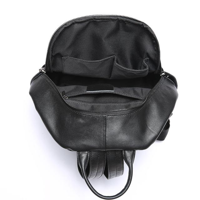 Nuleez travelling backpack women genuine leather cowhide big capacity 2018 new