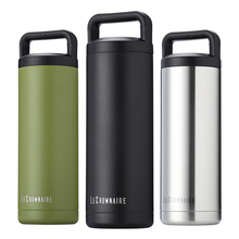 LC outdoor sports water bottle wide mouth vacuum insulated 18/8 stainless steel flask 3 colors