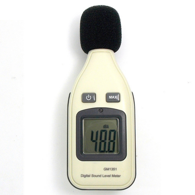 30-130dBA High Quality  Digital Noise Sound Level Meter 1.5 DB Accuracy Decibel Logger Tester LCD Automatic Backlight GM1351