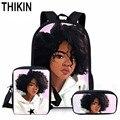 THIKIN Personalisierte Kunst Afro Druck Afrikanische Mädchen Muster Schul Buch Taschen Jugendliche Schule Rucksack Benutzerdefinierte Kind Mochila-in Schultaschen aus Gepäck & Taschen bei