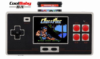 """10 PCS Classic Handheld Game Console 2.7"""" For NES FC600 In 1 HD Classic Game SUP Plug-In TV Output Game Machine Gamepad"""