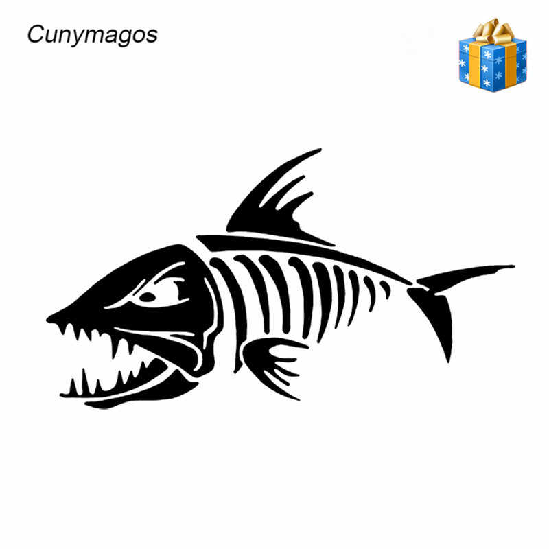 Vynyl Stickers Marine FISH BOTTEN Auto Sticker Decals Auto-styling Fishbone Persoonlijkheid Motorfiets Auto Stickers en Stickers 18*10 CM