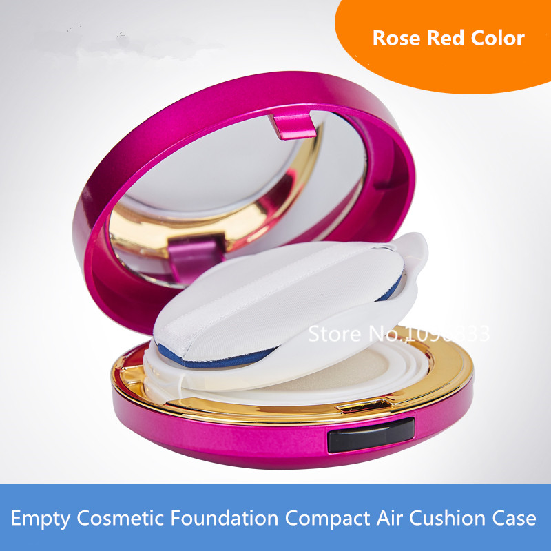 Empty Cosmetic Foundation Compact Air Cushion Case Purple Color Cosmetic BB CC Compact, DIY Make up Cream Compact Rose Red Color cc крем bell cc cream smart make up 23 цвет 23 sunny variant hex name ce9c77