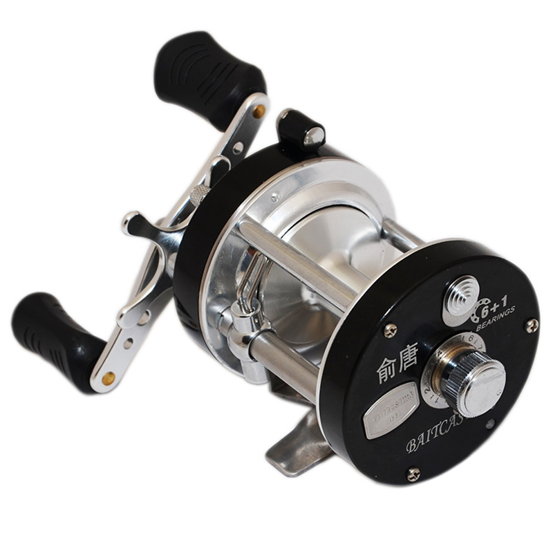 Haute qualité Rover main droite Kit Pesca ronde Baitcasting bobine de pêche en eau salée 7bbs 5.2: 1 moulinet de carpe à la traîne 6 kg