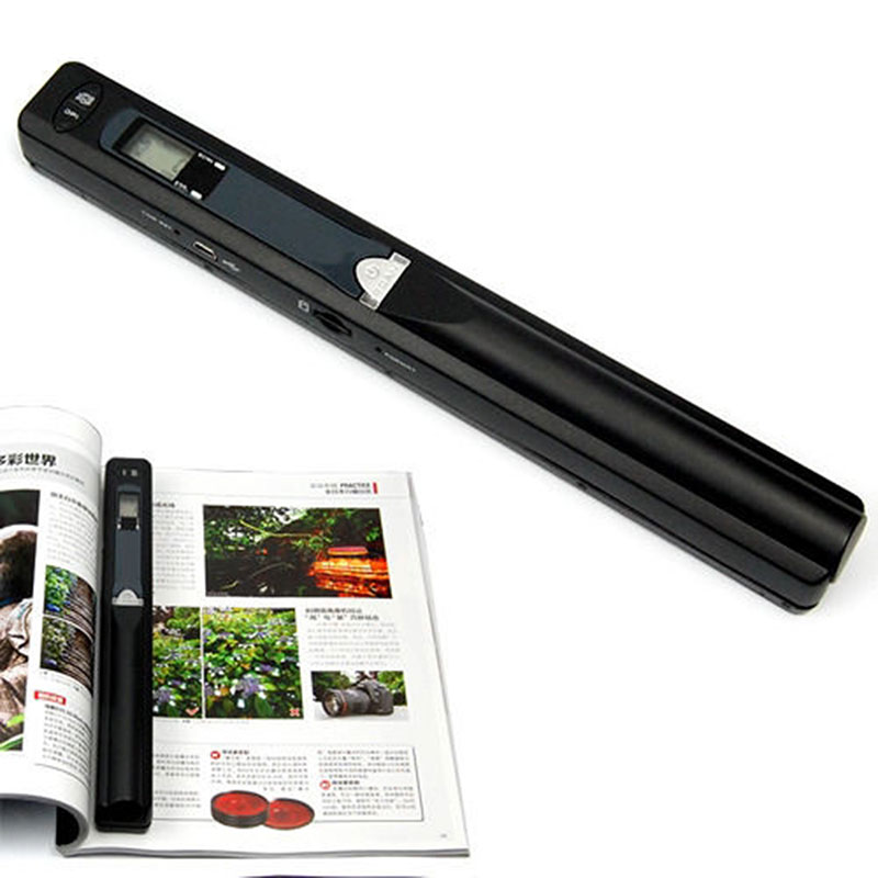 Portable 900DPI Handyscan scanner JPG / PDF Formate A4 Document Book Iscan Handheld scanner Mini Cordless A4 Scan