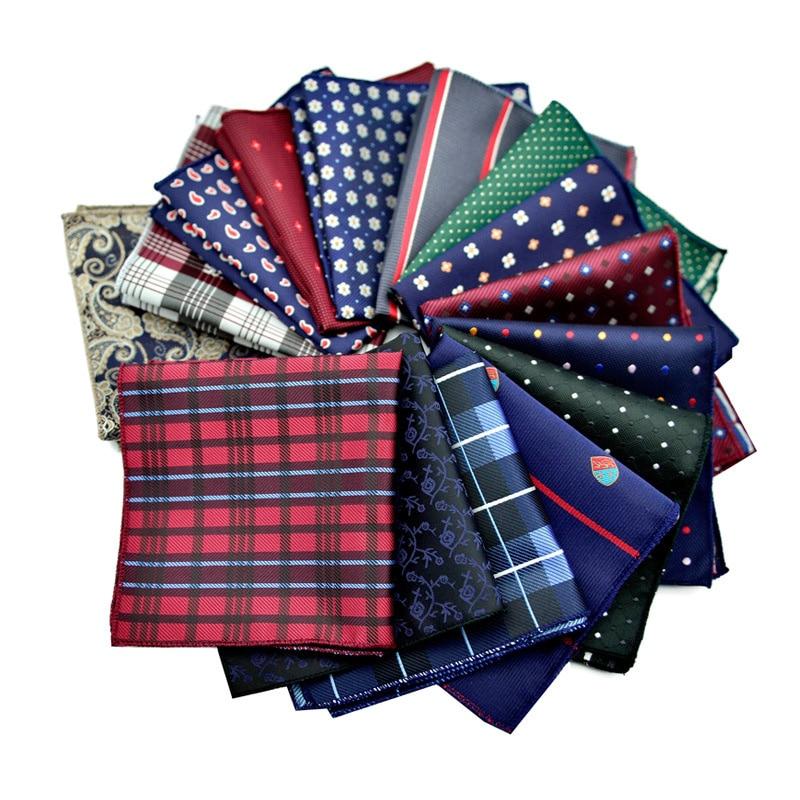 High Quality Factory Men's Vintage Paisley Floral Silk Handkerchief Pocket Square Men Fashion Hanky Wedding Party Chest Towel