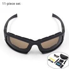 Visão noturna Óculos de Ciclismo Lente Polarizada UV Óculos de Proteção Do  Exército Do Deserto 4 X7 Caça Óculos De Sol Anti UVA . 92d619498b