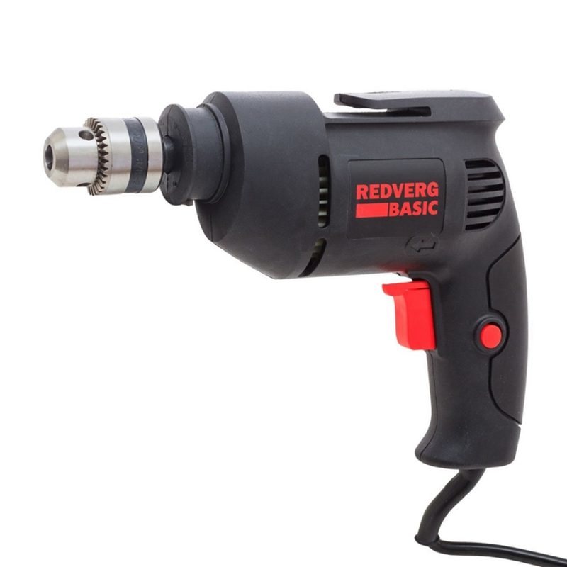 Drill electric RedVerg Basic D500 (Power 500 W, light weight, drilling in the tree up to 20mm) hammer drill electric redverg rd rh1500 power 1500 w drilling in concrete to 36mm антивибрационная system