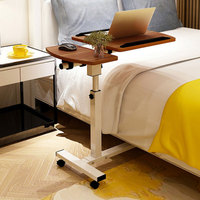 Home Lift Folding Bedside Table Removable Laptop Desk With Wheel Adjustable Height Notebook Stand Table Office Furniture