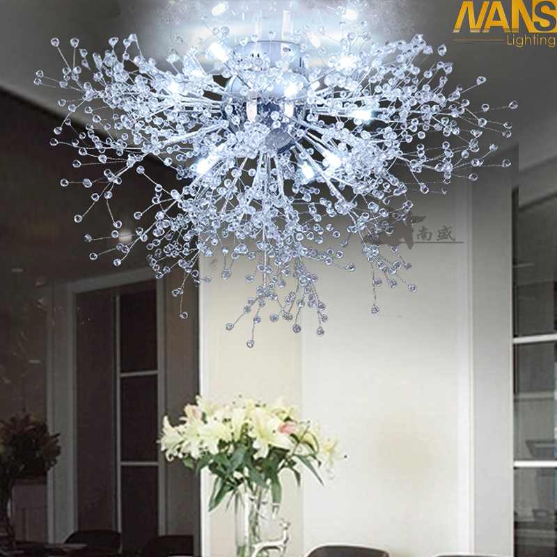 Modern White LED Ceiling Lights For Living Room luminarias para sala plafon led Crystal Ceiling Lamp Fixtures For Bedroom