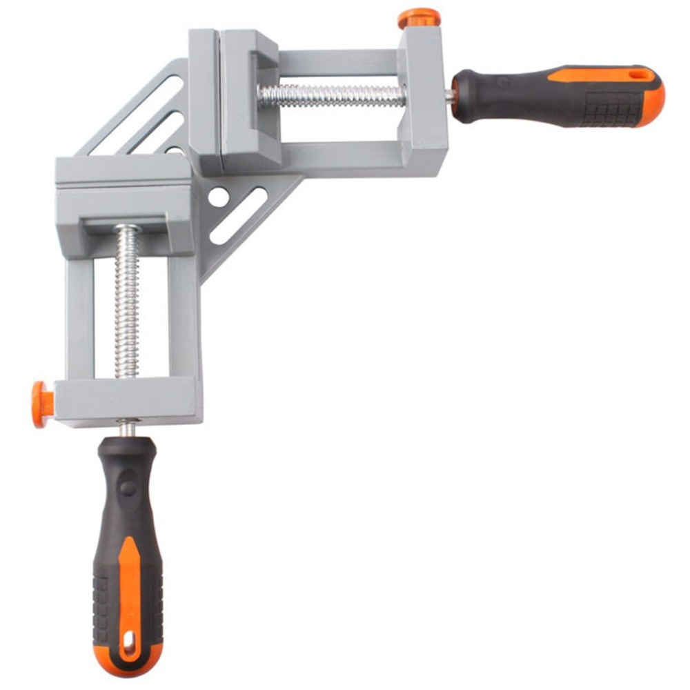 Aluminum Alloy Double Handle 90 Degree Right Angle Clamp Photo Frame Corner Clip Woodworking Vise Workbenches 2019 NEWAluminum Alloy Double Handle 90 Degree Right Angle Clamp Photo Frame Corner Clip Woodworking Vise Workbenches 2019 NEW