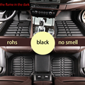 free shipping fiber leather car floor mats for renault fluence Renault Samsung SM3 2009 2017 2016 2015 2014 2013 2012 2011 2010