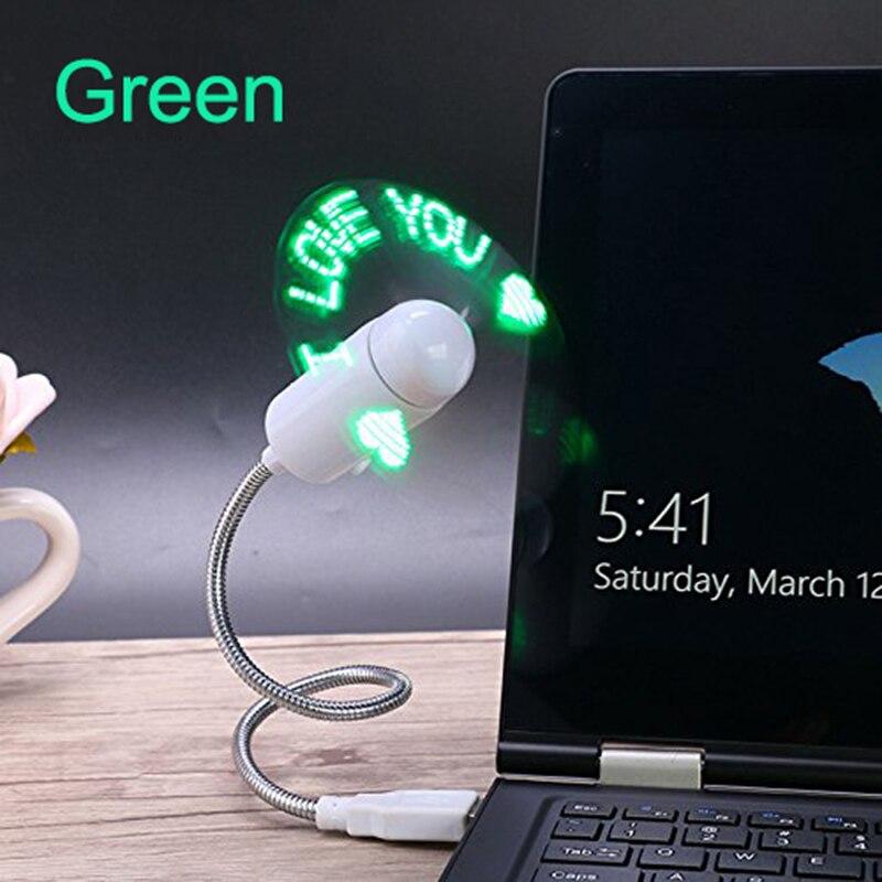 LUCOG Flexiable USB Fans Adjustable USB Gadget Mini LED Light USB Fans for PC Laptop Notebook Desktops Four Color to Option