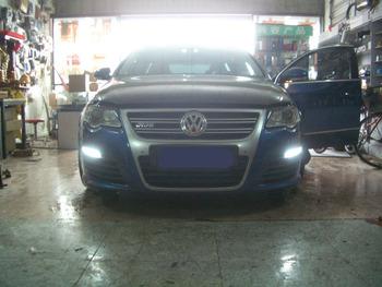 Dynamiczny kierunkowskaz led + światło do jazdy dziennej drl światło do volkswagena passat b6 R36 VW b6 variant 3C 2007-2011 tanie i dobre opinie RQXR CN (pochodzenie) Do światła dziennego 12 v