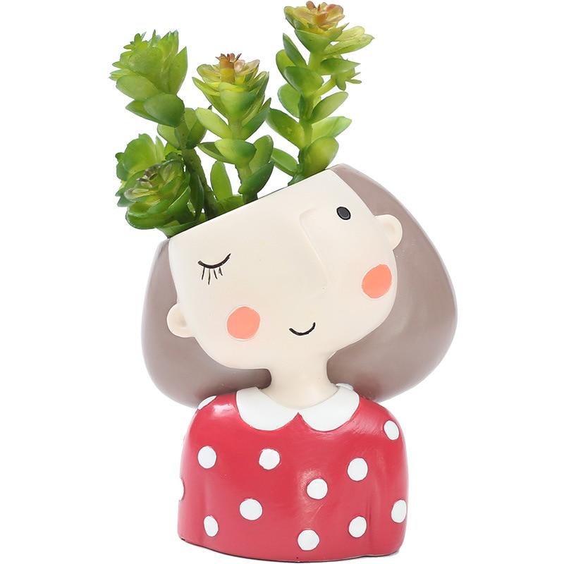 Flower Girl Vase Ceramic Home Decor Flower Pots Planters Porcelain Art Flower Vase Home Decoration 4Pcs/Set R363
