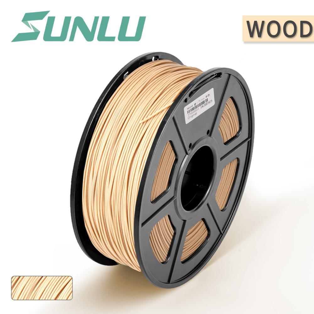 Honing Sunlu Houtvezel 3d Printer Filament 1.75 Mm/3.00 Mm 1 Kg Met Spool Sublimatie Blanks Print Hout Effect Craft Niet-giftig Materiaal