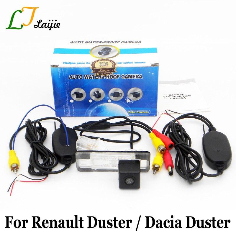 Laijie Wireless артқы көрініс камерасы / Renault Duster үшін / Dacia Duster / Wide Lens үшін бұрыш түнгі көрінісі Back Up Back Camera