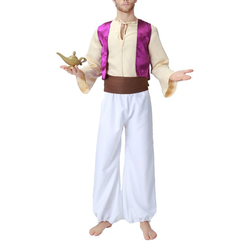 Halloween fête arabie roi robe Costume Cosplay mâle adulte Aladdin Prince lanterne Cosplay Costume pour homme vêtements