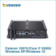 Industrial Fanless Mini PC Core i7 5550U HDMI VGA HD 4K Micro Computer 2*RS232 COM Intel Core i3 7100U i5 Kiosk Rugged PC 5250U(China)