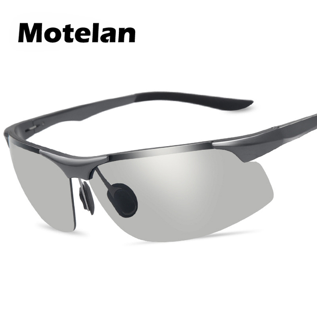 c64a041fbb7 New Men s Photochromic Polarized Aluminum Magnesium Alloy Frame Sunglasses  Male Safety Driving Fishing UV400 Sun Glasses