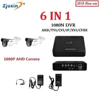 NEW 6 IN 1 4CH 1080N AHD DVR KIT 1080P Ahd Camera With 5 36 Good