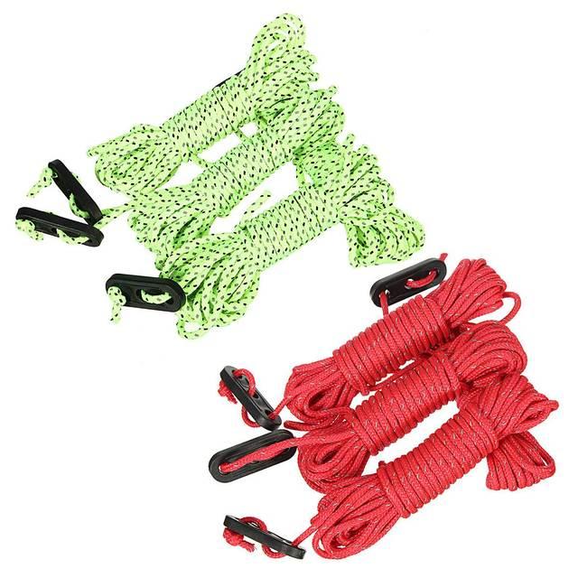 4 шт. x 4 м многофункциональная веревка для палатки Светоотражающая Ночная Палатка аксессуары для спорта на открытом воздухе кемпинга Пешие прогулки прочная полипропиленовая веревка