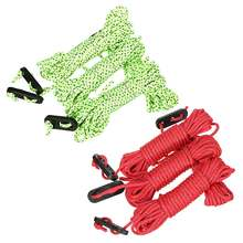 4pcsx4M Multifunction Tent Rope Reflective At Night Tent Accessories Outdoor Sports Camping Hiking Durable Polypropylene Rope(China)