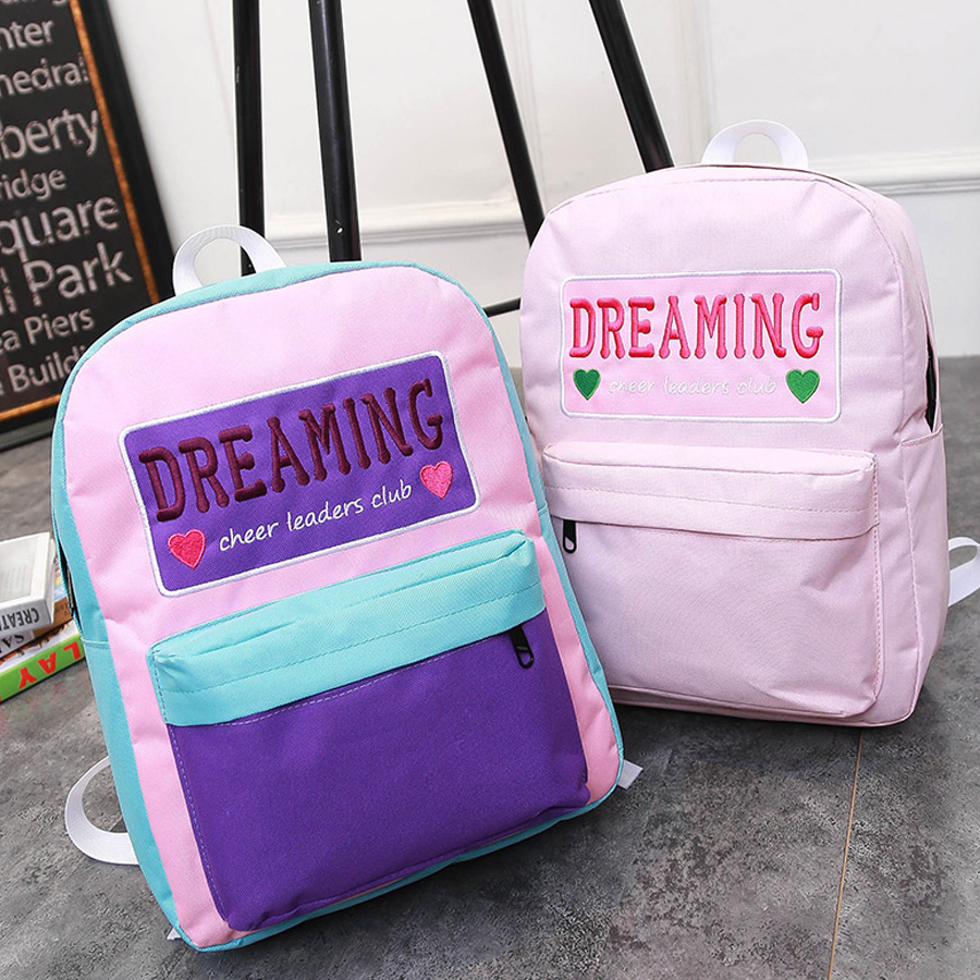 School bag embroidery - Aliexpress Com Buy New Dreaming Embroidery Cute Backpack Women Preppy Style Teenage Girl School Bags Student Travel Boy Book Bag Mochila Bolsas From
