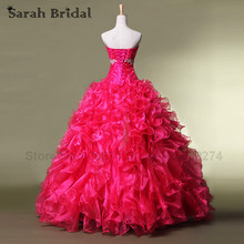 Fuchsia Cheap Quinceanera Gowns Free shipping 2017 Ball Gown Dress For 15 Years Lace Applique Sweet Debutante Gowns SD074