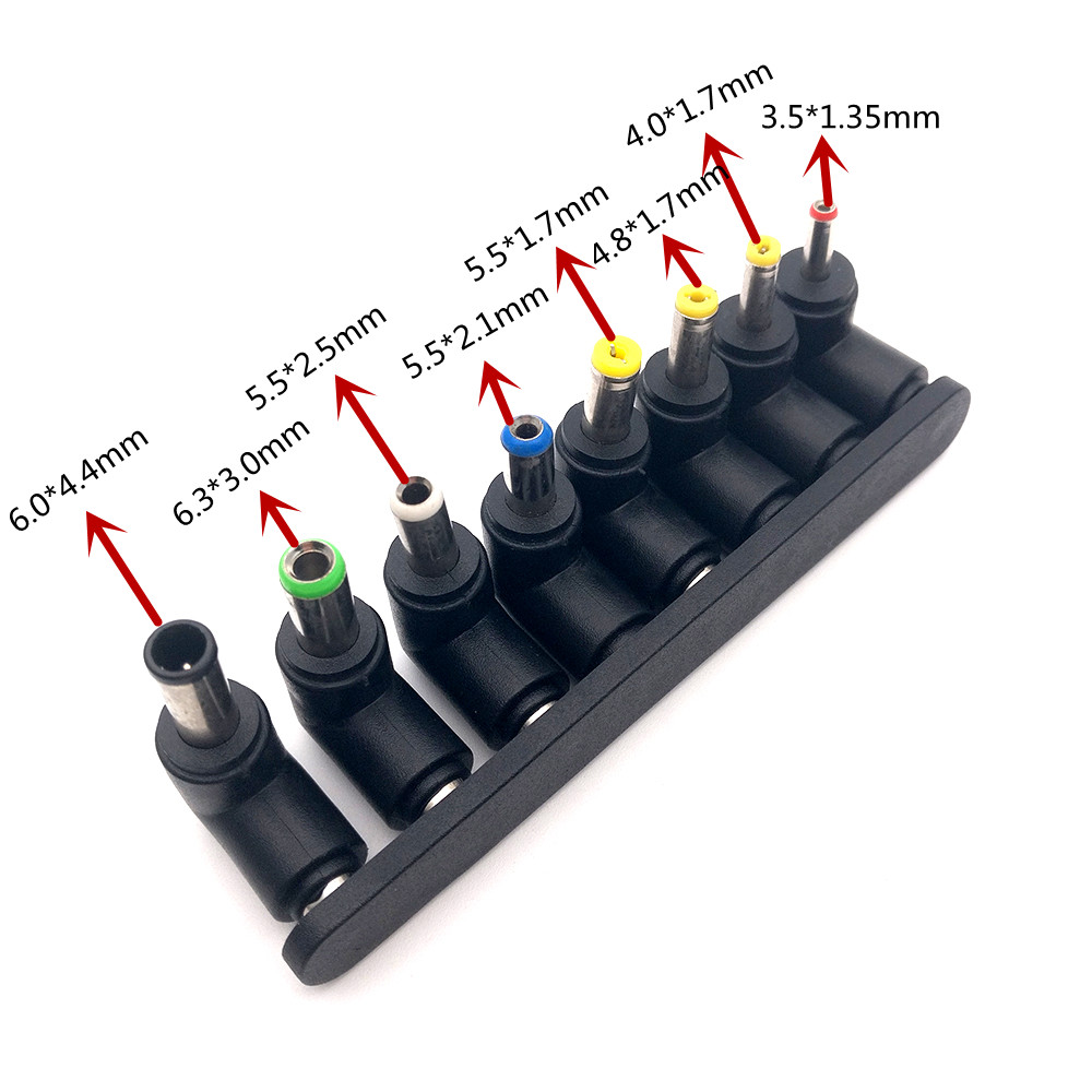 Universal 1set=8pcs 5.5*2.1mm Jack to DC Plugs for Laptop AC Power Adapter Computer Tips Connectors for Notebook 10pcs set 5 5x2 1mm multi type male jack for dc plugs for ac power adapter computer cables connectors for notebook laptop