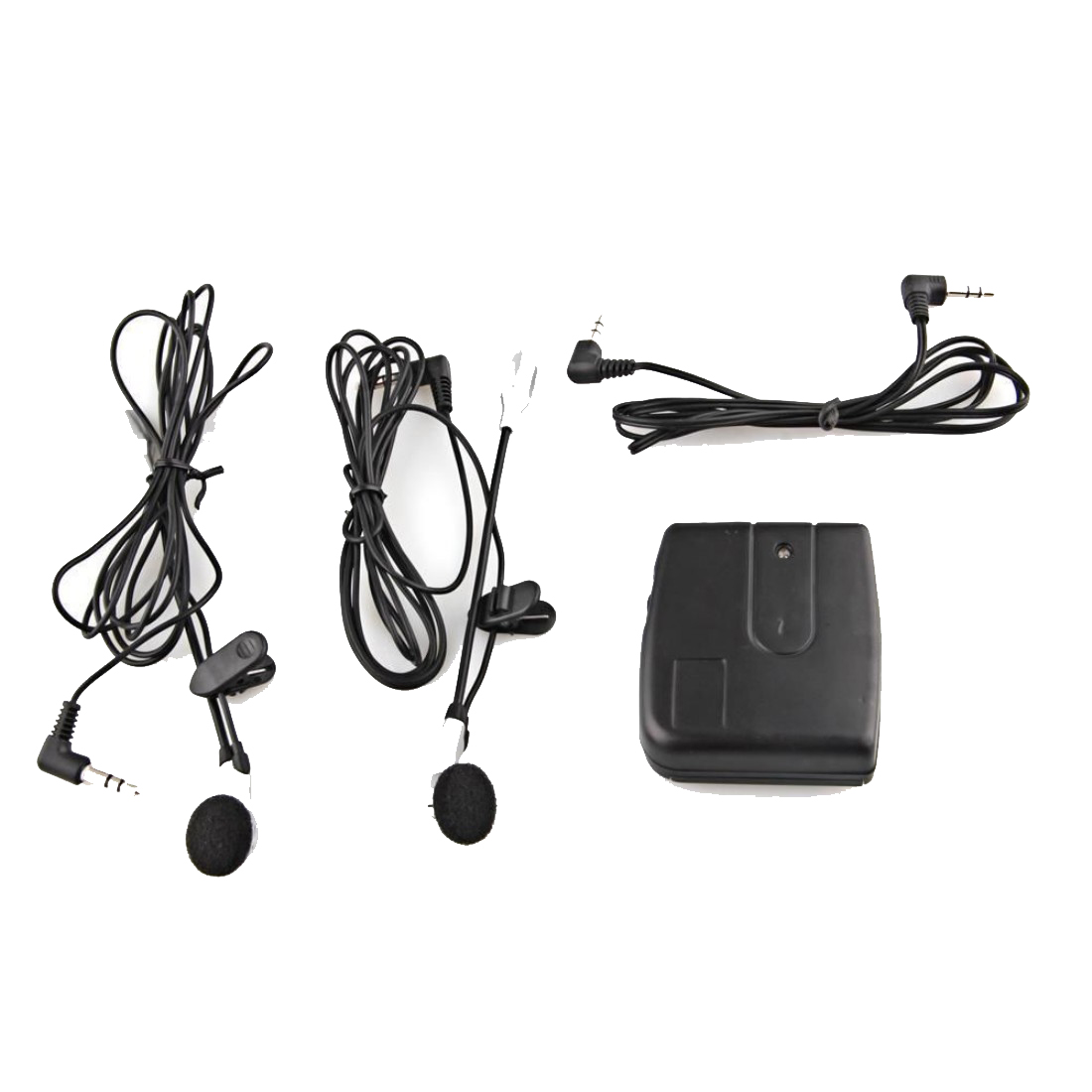 Sports Motorbike Helmet 2-Way Intercom Headset Black + Earphone Stereo