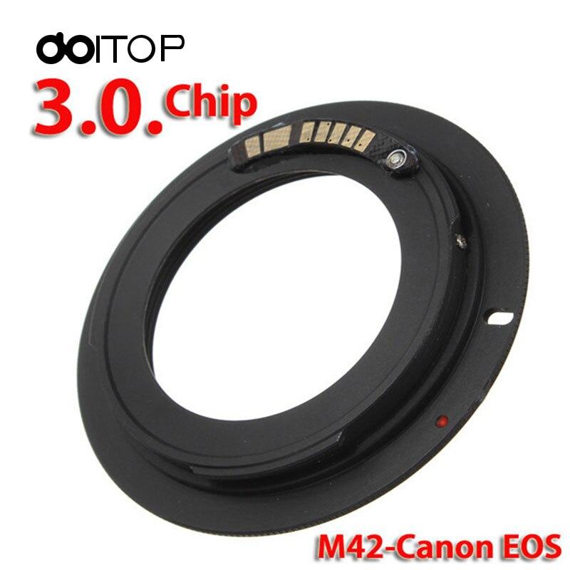 DOITOP AF Confirm M42 Mount Lens Adapter Ring For M42-EOS M42 For canon EOS 500D,1000D,450D,400D,350D,300D,50D,40D,30D,20D,10D fsk 2 4ghz wireless flash trigger for canon dslr eos 30 33 300 300d 400d 450d 350d 2xaaa 2xaaa