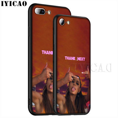 IYICAO Thank U Next Ariana Grande Soft Silicone Phone Case for iPhone XR X XS Max 6 6S 7 8 Plus 5 5S SE TPU Black Cover Islamabad