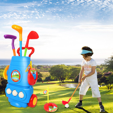 Children Plastic Golf Sports Toy Set Kids Golf Game Toy With 3 Clubs 2 Holes 3 Balls Outdoor Toys Games For Children все цены