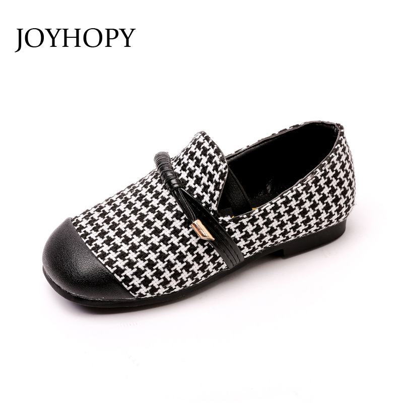 Girls shoes Leather 2018 Kids shoes princess Baby Children Spring Patchwork Swallow Gird toddler girl school shoes wedding party