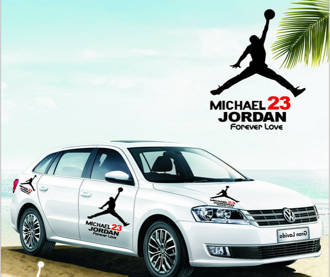 Pcslot Free Shipping Cool MICHAEL JORDAN Dunking Design Car Body - Custom design car decals free
