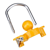 HHTL Boat Motorcycle Trailer Hitch Coupler Lock Ball Lock Height Adjustable