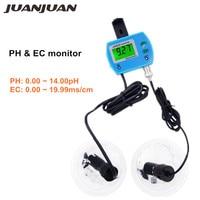 Professional 2 in 1 PH Meter EC Tester Water Quality Tester Monitor Online pH / EC monitor Acidometer for Aquarium 20% off