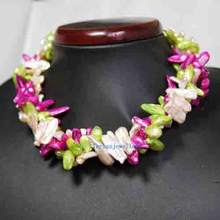 Подлинное жемчужное ювелирное изделие многожильное ожерелье