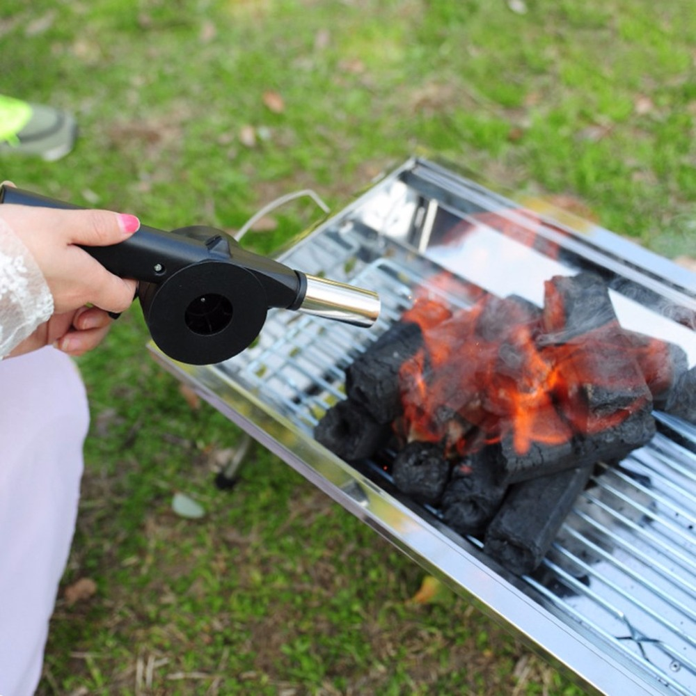 Outdoor Cooking Bbq Manual Fan Air Blower For Barbecue