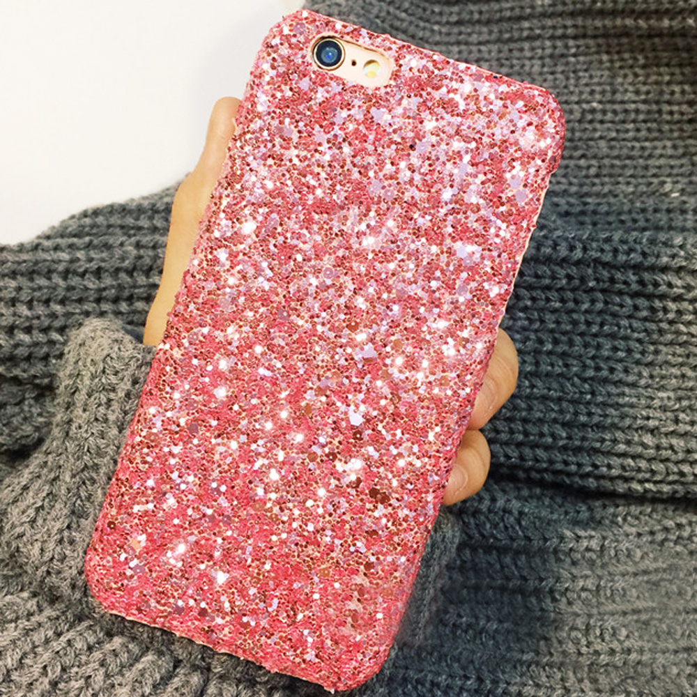 brand new b9e2d f3d31 US $2.19 |For iPhone 7 Case Matte Bling Glitter Sparkle Rigid Plastic Hard  Phone Cases Back Cover Cap Skin Shell For iPhone 6 6s 7 Plus-in Fitted ...