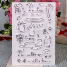 Rubber Silicone Clear Stamps for Scrapbooking Tampons Transparents Seal Background Stamp Card Making Diy Cartoon penguin rubber silicone clear stamps for scrapbooking tampons transparents seal background stamp card making diy happy birthday