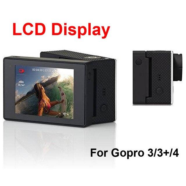 Новый 2.0 дюймов Go pro ЖК Bacpac Дисплей Просмотра Монитор Внешний Защитная Задняя Крышка для Спорта Камеры GoPro Hero 4/3 +/3