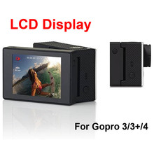 New 2.0 inch LCD Bacpac Display Viewer Monitor External Screen Protective Rear Cover for GoPro Hero 4/ 3+ /3 Sport Action Camera