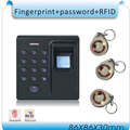 Free shipping Fingerprint Access Controller + ID card+password , no software, simple and practical+10 pcs ID card