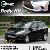Bumper Lip Deflector Lips For Ford B Max B Max BMax Front Spoiler Skirt For TopGear Fans Car View Tuning / Body Kit / Strip